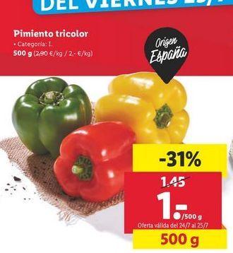 Oferta de Pimiento tricolor por 1€