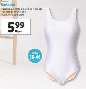 Oferta de Bañador mujer Esmara por 5,99€