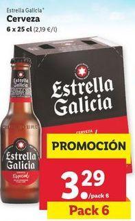 Oferta de Cerveza Estrella Galicia por 3,29€