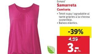 Oferta de Camiseta mujer Esmara por 3€