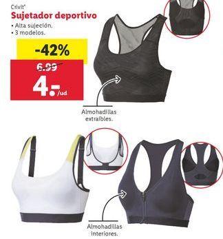 Oferta de Crivit Sujetador deportivo por 4€