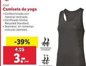 Oferta de Camiseta de deporte Crivit por 3€