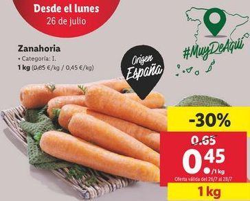 Oferta de Zanahorias por 0,45€