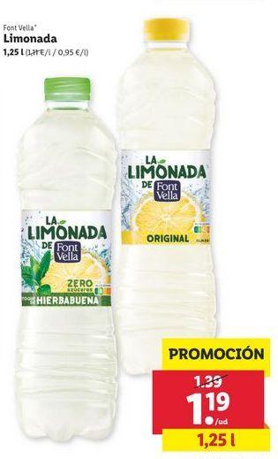 Oferta de Limonada Font Vella por 1,19€