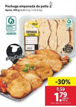 Oferta de Pechuga empanada de pollo por 1,79€