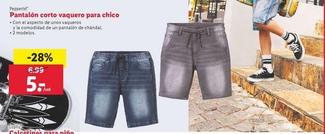 Oferta de Pantalon corto vaquero para chico Pepperts por 5€