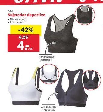 Oferta de Sujetador deportivo Crivit por 4€
