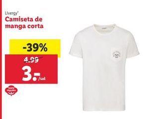 Oferta de Camiseta manga corta Livergy por 3€