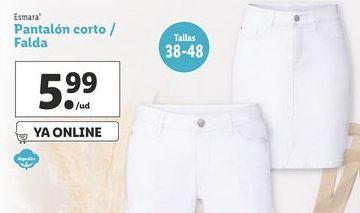 Oferta de Pantalones cortos esmara por 5,99€