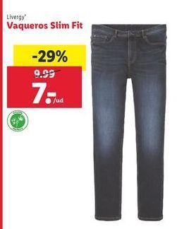 Oferta de Vaqueros slim Livergy por 7€