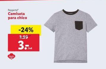 Oferta de Camiseta para chico Pepperts por 3€
