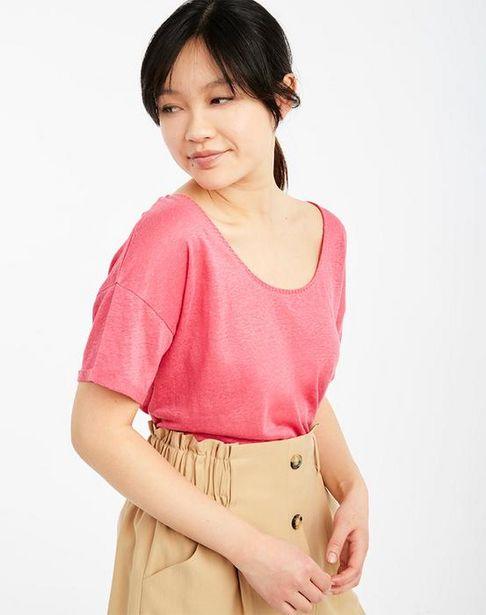 Oferta de Camiseta lino manga corta por 12,45€