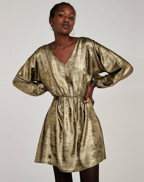 Oferta de Vestido corto dorado por 31,95€