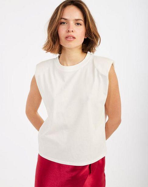 Oferta de Camiseta efecto hombreras por 11,45€