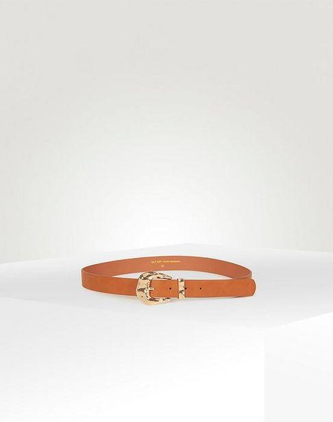Oferta de Cinturón hebilla dorada por 11,15€