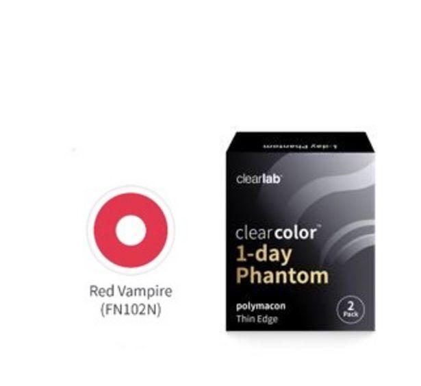 Oferta de Clear Color 1 Day Red Vampire 2 por 15€