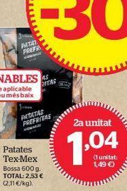 Oferta de Patatas fritas congeladas por 1,04€