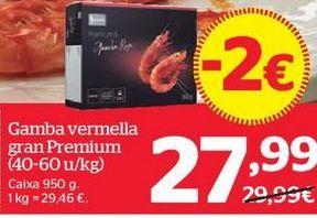 Oferta de Gambas rojas por 27,99€