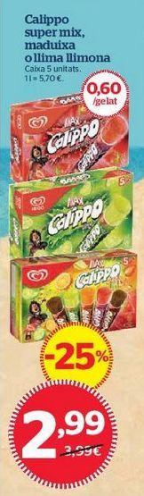 Oferta de Helados Calippo por 2,99€