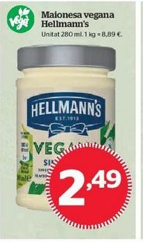 Oferta de Mayonesa Hellmann's por 2,49€