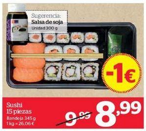 Oferta de Sushi 15 piezas por 8,99€