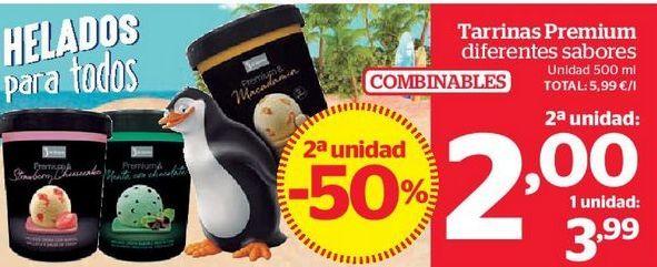 Oferta de Tarrinas Premium diferentes sabores por 2€