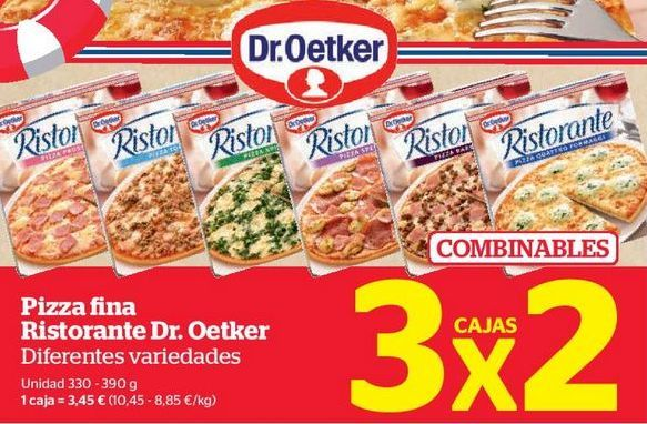 Oferta de Pizza fina Ristorante Dr. Oetker diferentes variedades por 3,45€