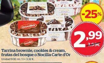 Oferta de Tarrina de helado Carte d'Or por 2,99€