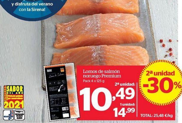 Oferta de Lomos de salmón noruego Premium por 10,49€