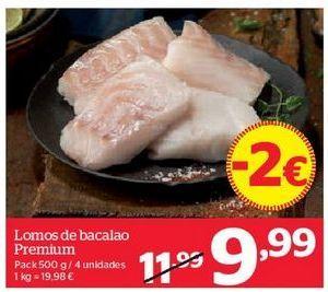 Oferta de Lomos de bacalao Premium por 9,99€