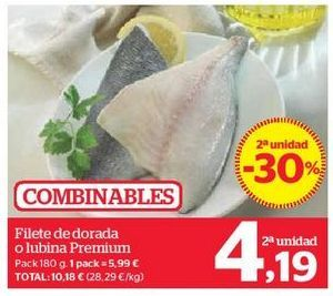 Oferta de Filete de dorada o lubina Premium por 4,19€