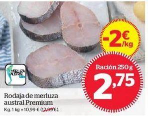 Oferta de Rodaja de merluza austral Premium por 2,75€
