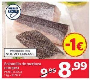Oferta de Solomillo de merluza europea por 9,99€