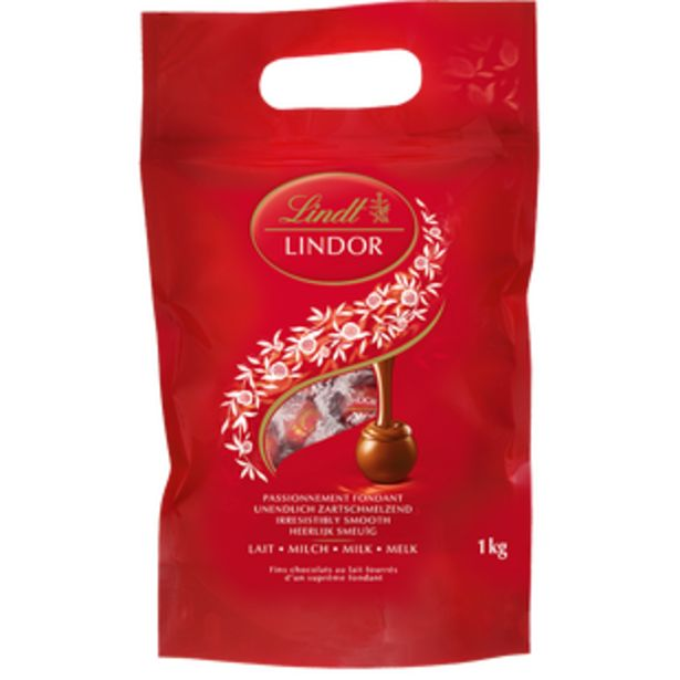 Oferta de Lindor Maxi Bag Leche 1Kg por 24,95€