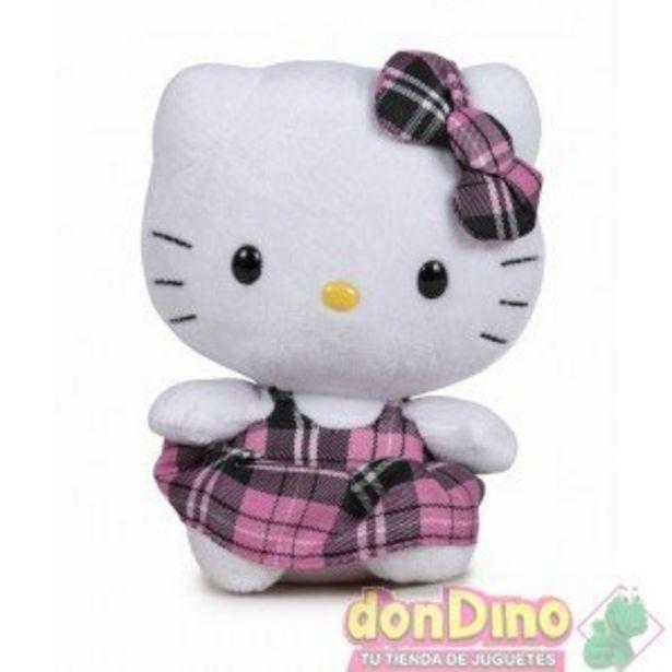 Oferta de Peluche hello kitty 14 cm. cuadros por 5,99€