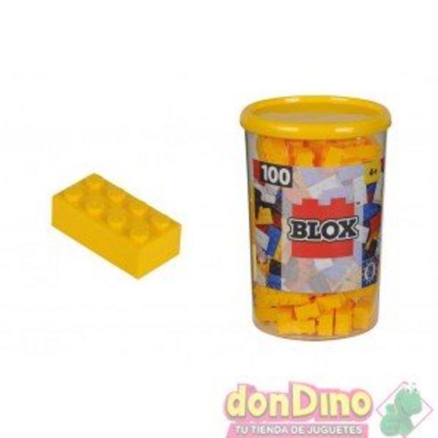 Oferta de Bote bloques blox 100 pzas.amarillo por 5,99€