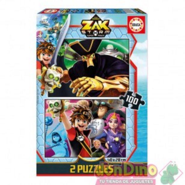 Oferta de Puzzle 2x100 pzas. zak storm por 6,95€