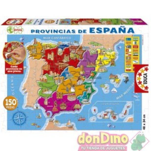 Oferta de Puzzle 150 pzas. provincias españa por 9,99€