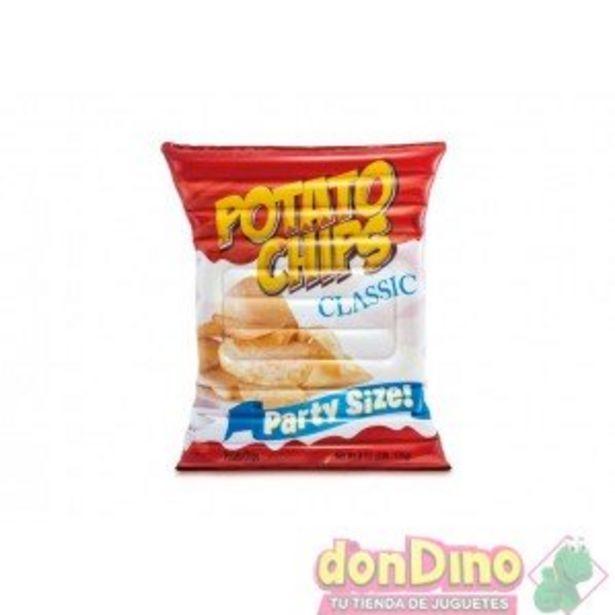 Oferta de Colchoneta patatas fritas 178x140cm por 20,99€
