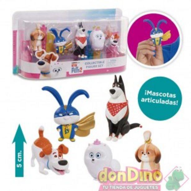 Oferta de Pack 5 figuras mascotas 2 por 7,95€