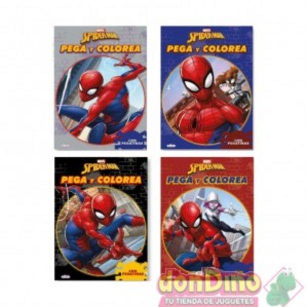 Oferta de Libro pega y colorea spider-man por 1,5€