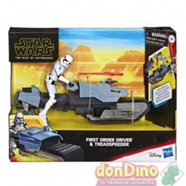Oferta de Figura First Order Driver & Treadspeeder Star Wars: Ep. IX por 24,95€