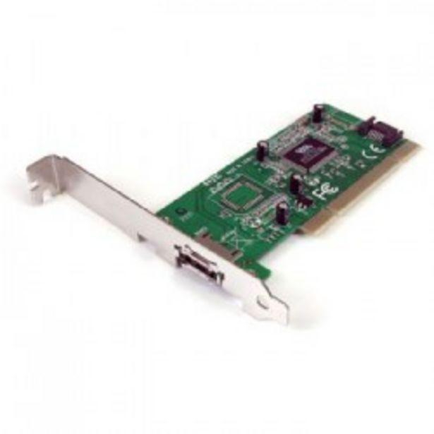 Oferta de TARJETA PCI 1 SATA + 1 E-SATA STARTECH PERFIL BAJO por 32,5€