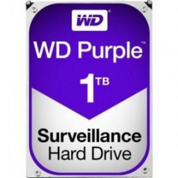 "Oferta de DISCO DURO 3.5"" WESTERN DIGITAL 1TB SATA3 PURPLE por 55,5€"