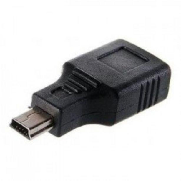 Oferta de ADAPTADOR USB A H/USB MINI 5PIN MACHO por 3€