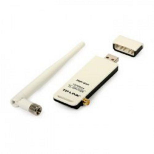 Oferta de WIFI TP-LINK ADAPTADOR USB 150Mbps ANT.DESMONTABL por 10,9€