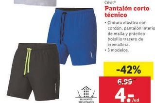Oferta de Pantalones cortos Crivit por 4€