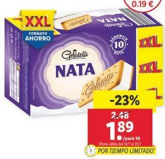 Oferta de Helados Gelatelli Nata por 1,89€