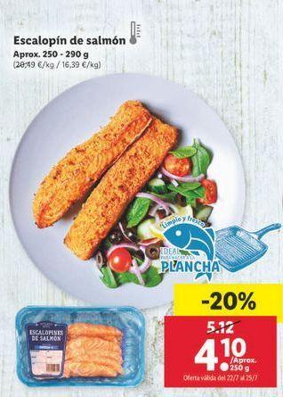 Oferta de Escalopín de salmón por 4,1€