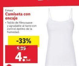 Oferta de Camiseta con encaje Esmara por 4€